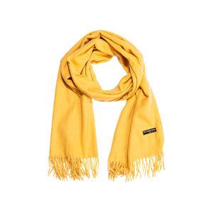 Dámsky šál s dotykom kašmíru žltá