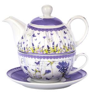 Čajová súprava pre jedného levanduľa