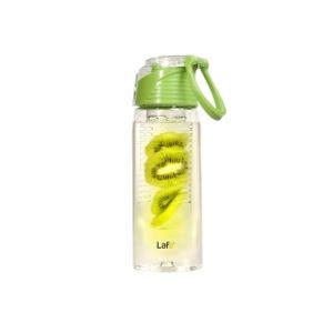 Fľaša s košíkom na ovocie 700 ml zelená