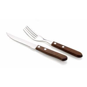 Sada steakových príborov drevo