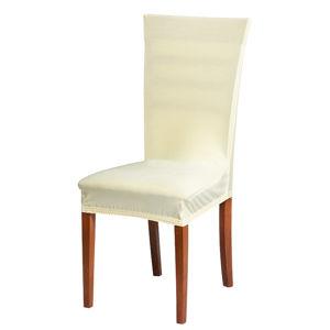 Poťah na stoličku krémový